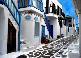 کوچه های باور نکردنی نقطه ای در میکونوس، یونان