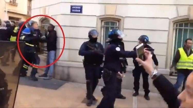 ورژن فرانسوی شعبان بی مخ در اعتراضات جلیقه زردها