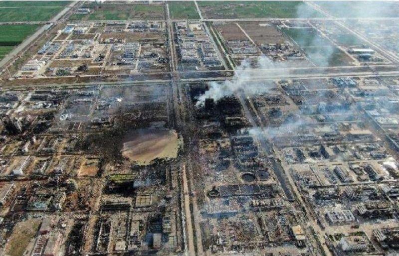 چین پارک صنعتی شیمیایی خود را برای آنالیز علت آتش سوزی بست