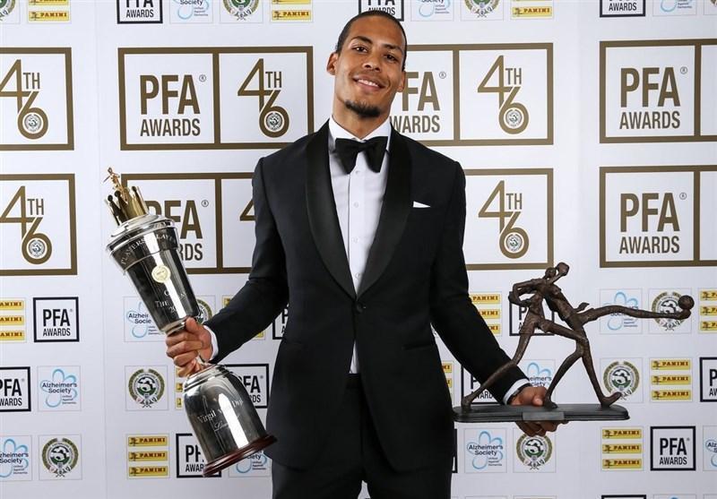 فن دایک بهترین بازیکن فصل لیگ برتر انگلیس شد، استرلینگ جایزه جوان فصل را ربود