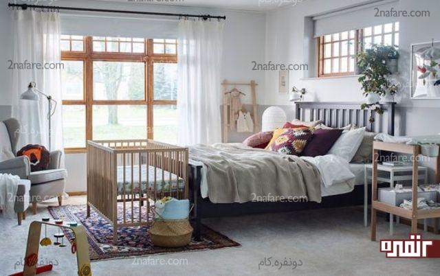 نکات مهم چیدمان در اتاق خواب مشترک والدین و نوزاد
