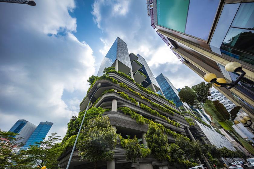 ترکیب مفهوم جنگل و هتل در معماری خیره کننده هتل پارک رویال سنگاپور
