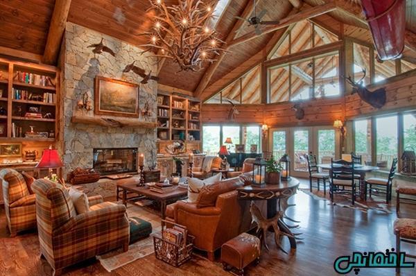 ایده های طراحی داخلی کلبه چوبی