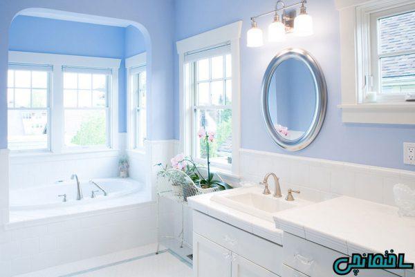 رنگ آبی در طراحی حمام