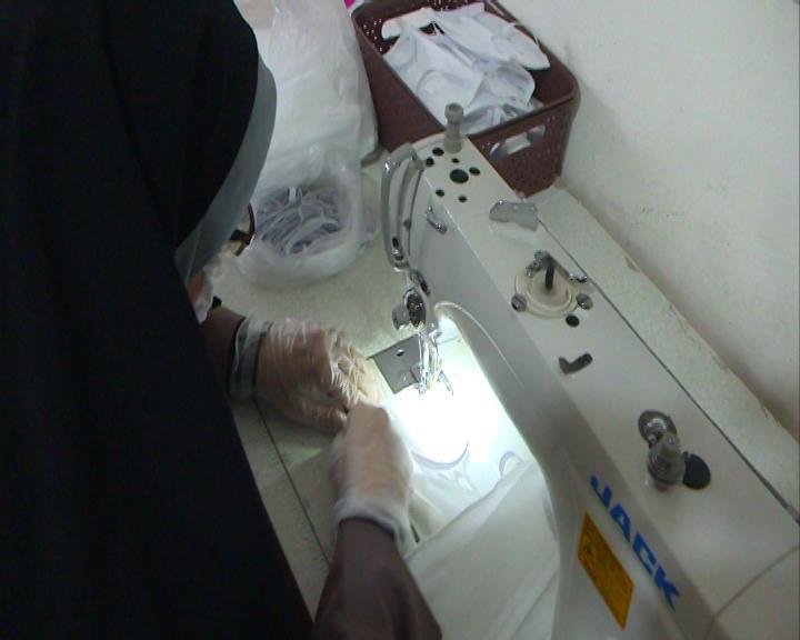 تولید و توزیع 5 هزار ماسک در آستانه اشرفیه