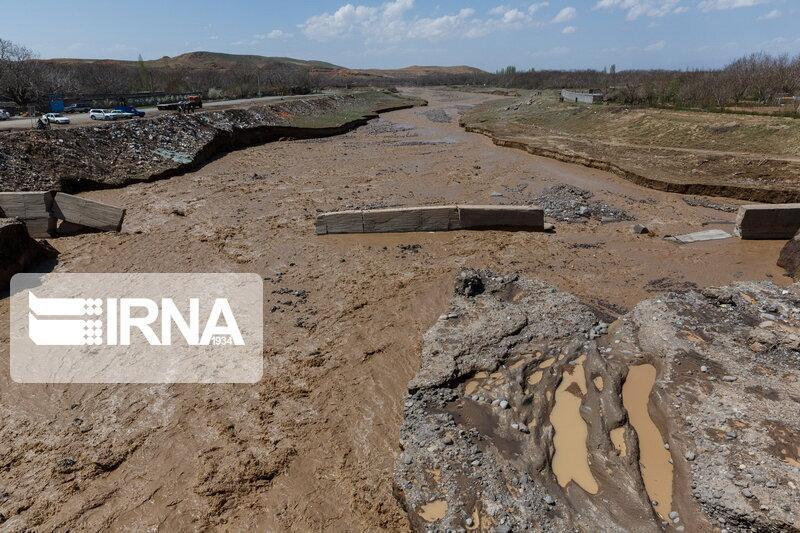 خبرنگاران خسارت سیل بهاری در مراوه تپه