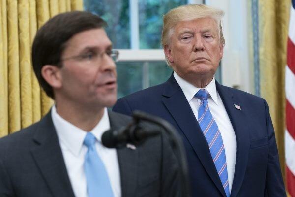 ترامپ با مشاورانش درباره برکناری وزیر دفاع آمریکا صحبت نموده است