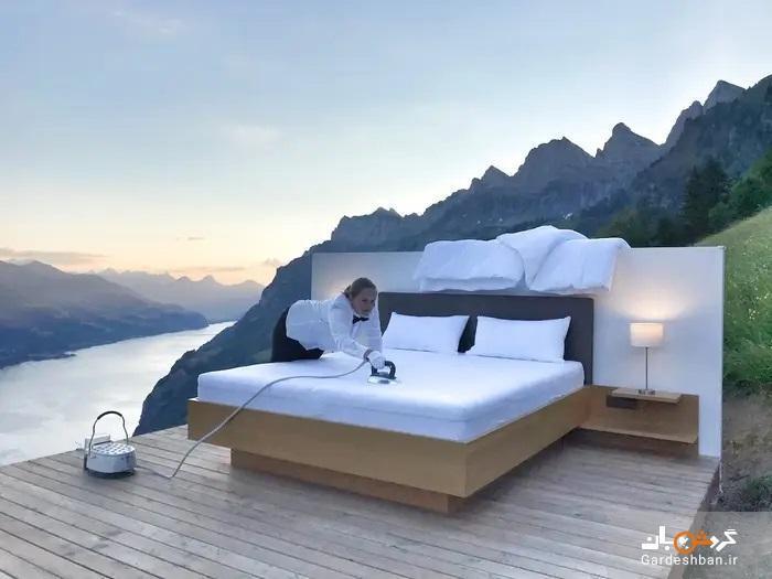 عجیب ترین هتل جهان در سوئیس: هتلی بدون در و دیوار و پنجره