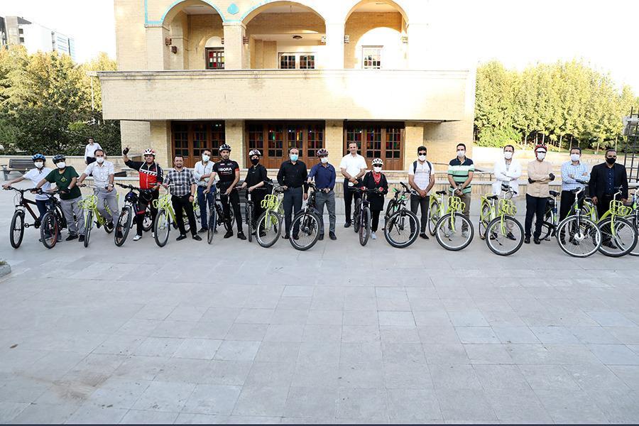 افتتاح جهت دوچرخه در بوستان تبادل نظر با رکاب زنی کاربران اپلیکیشن دوچرخه