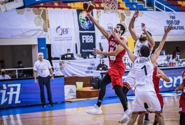 تیم ملی بسکتبال ایران برابر سوریه مغلوب شد