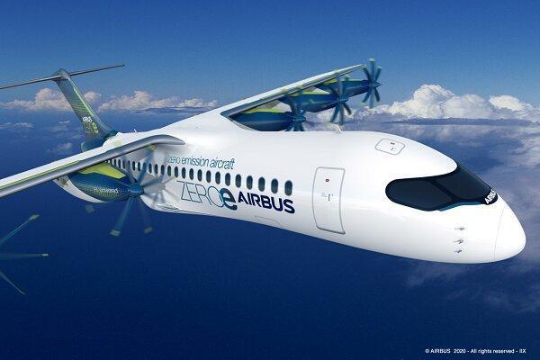 ایرباس هواپیمایی با پره و موتور جداشونده فراوری کرد