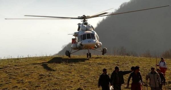 پرواز 208 ساعته بالگردهای هلال احمر برای اطفای حریق جنگل ها